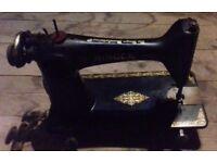 Three Vintage Singer Sewing Machines