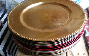 Charger plates -16 total (assorted)