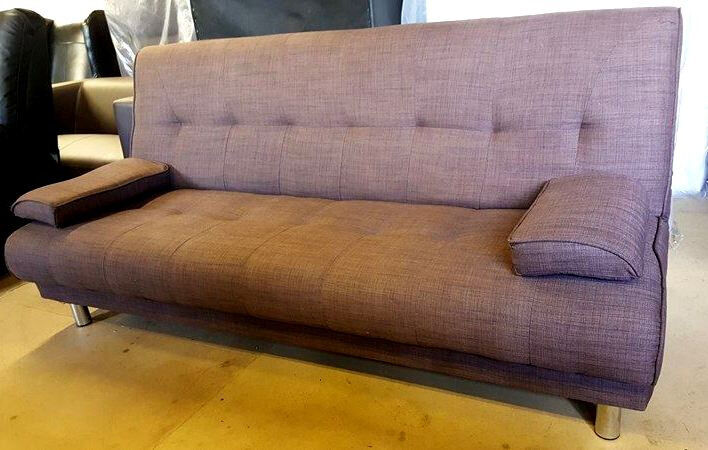 Sicily Fabric Clic Clac Sofa Bed - Chocolate . Can deliver | in ...