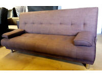 Sicily Fabric Clic Clac Sofa Bed-Chocolate can deliver