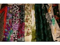 Very nice silky turkish scarves 10 of different colors and patterns Hijab shawels scarves scarves