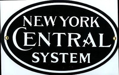 New York Central System Railroad R&R Transportation Vintage Train Metal Sign