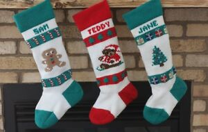 Personalized Knitted Christmas Stockings