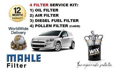 pour Fiat Grande Punto 1.9MJTD 2006- > KIT DE SERVICE HUILE AIR carburant