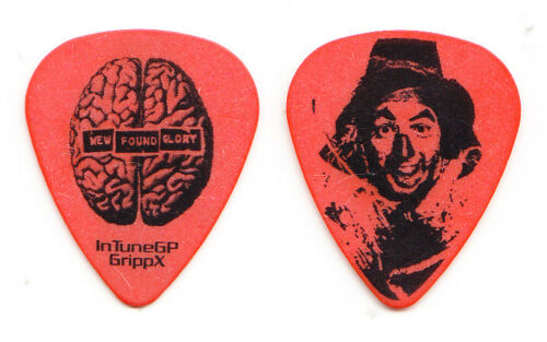 New Found Glory Wizard Of Oz Scarecrow Brain Orange Tour Guitar Pick - NFG