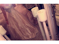 Gold/cream prom dress
