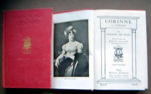 Livre Rare « Corinne » Madame de Staël en 2 Volumes