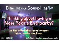 New Year's Eve Sound/Light Systems For Hire