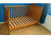 Cot bed with bedding set