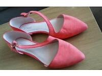 Next peach flat shoes UK5, very good condition
