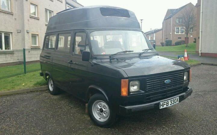 1981 ford transit mk2 camper minibus project in leith. Black Bedroom Furniture Sets. Home Design Ideas