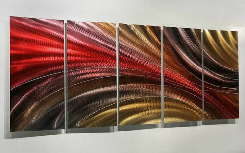 Statements2000 3D Metal Wall Art Panels Large Abstract Red Gold Decor Jon Allen