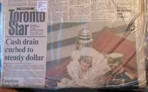 Old Toronto Star, Sunday Star, newspapers from 1970s and 1980s London Ontario image 3