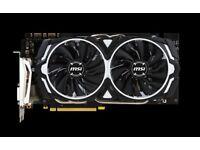 BRAND NEW MSI GeForce GTX 1070 ARMOR 8G OC