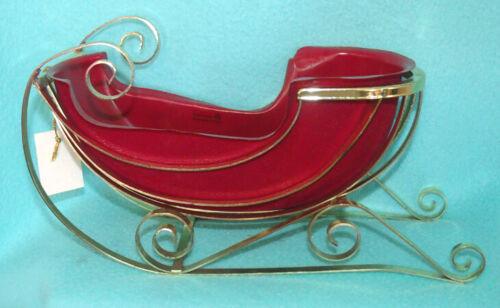 Vintage Teleflora Christmas Sleigh in Metal with Hangtag