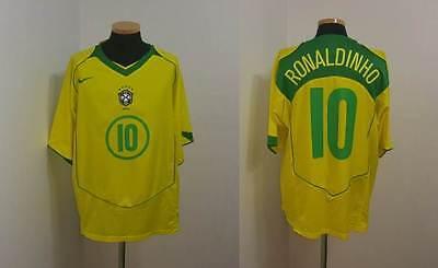 bf9032c64 (XL) BRAZIL SHIRT JERSEY RONALDINHO BARCELONA PSG MILAN GREMIO ITALY  FOOTBALL