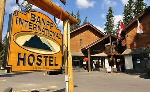 $2400 a month in a 4 bed room at the Banff International Hostel!