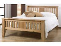 Heavy Oak King Size Bed Frame
