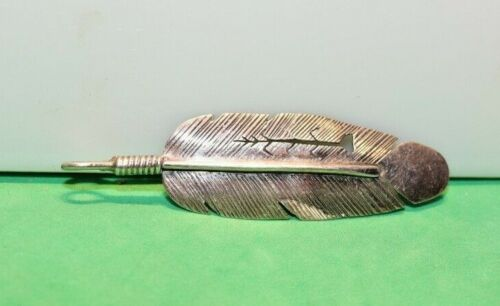 Vintage Sterling Native American Feather Pin Signed RC 6.5 Grams