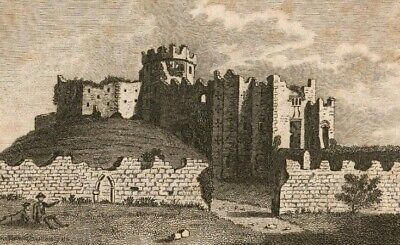 1775 Etching Keep of the Castle of Cardiff, Glamorganshire S Sparrow