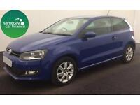 £149.50 PER MONTH BLUE 2013 VW POLO 1.2 MATCH 3 DOOR PETROL MANUAL