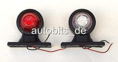 2 x LED Begrenzungsleuchte Umrissleuchte LKW TRAILER Anhänger  12V E Mark 0140
