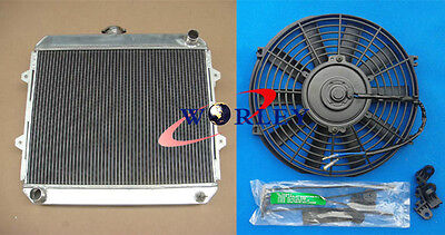 3 core aluminum radiator + fan for TOYOTA HILUX RN85 RN90 22R 2.0L Petrol manual