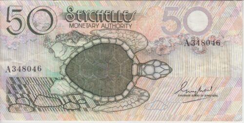 Seychelles Banknote P25-8046 50 Rupees, VF