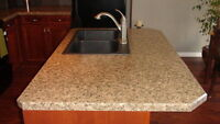 CUSTOM COUNTERTOPS FOR KITCHEN & BATHROOM CABINETS