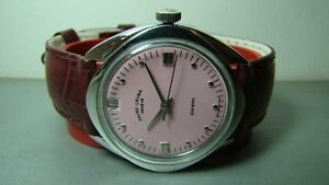 VINTAGE-FAVRE-LEUBA-GENEVE-WINDING-DATE-SWISS-WRIST-WATCH-OLD-USED-ANTIQUE-K380