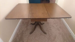Antique Duncan Phyfe Pedestal Fold Down Table