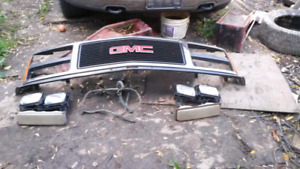 Front grill and headlights for 1988 gmc 1500