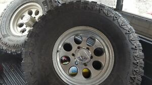 set of 4 tires on rims