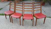Vintage Danish K.S. Chairs with table  Korup Stolefabrik