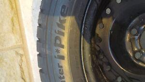 Winter tires and rims 195 55 R 15 Gatineau Ottawa / Gatineau Area image 3