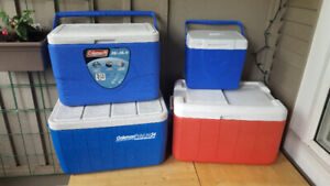 4 coolers for sale, various prices