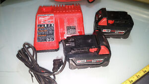 Milwaukee M18 Lithium Ion 4.0Ah Batteries and Charger