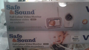 2 vtech surveillance/baby moniters with colour handheld moniters