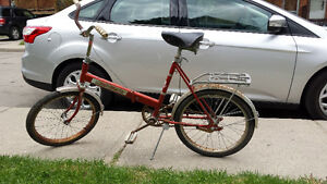 Antique bike folding