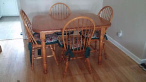 $150 for solid wood table with chairs and hutch!