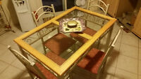 KITCHEN TABLE SET WITH BAKER'S RACK - LIKE NEW!!!!!