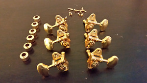 Gold 3+3 open back tuners/machine heads