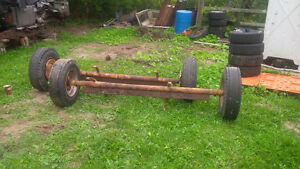 Trailer Axle with brakes