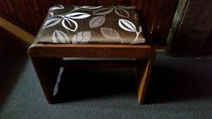 Banc antique Vintage pour meuble de coiffeuse