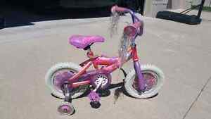 Barbie Bike With Training Wheels 12""