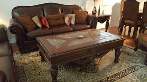 like new Ashley North Shore living and dining room set,