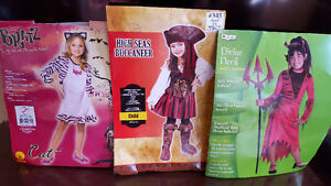 Girls Costumes - Bratz Cat, High Seas Buccaneer and Divine Devil
