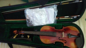 4/4 100 year old violin with case and bows