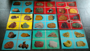 16 antique Rocks & Minerals posters (double-sided)