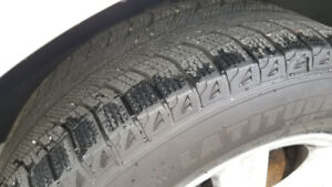 Winter tires with alloys - excellent condition